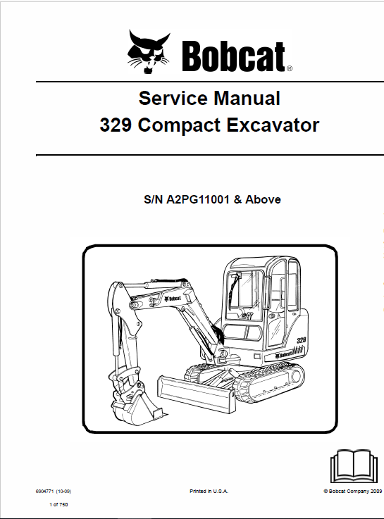 Bobcat 329 Compact Excavator Service Manual Operation And Maintenance Repair Manuals Excavator