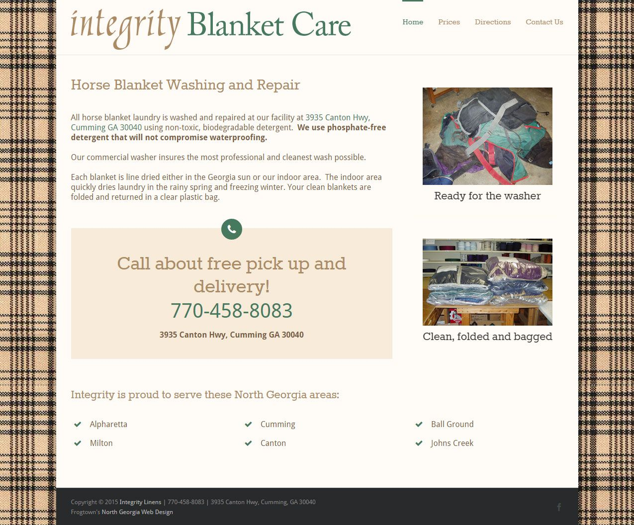New Wordpress Website For Integrity Horse Blanket Care Portfolio Web Design Wordpress Website Blanket Care