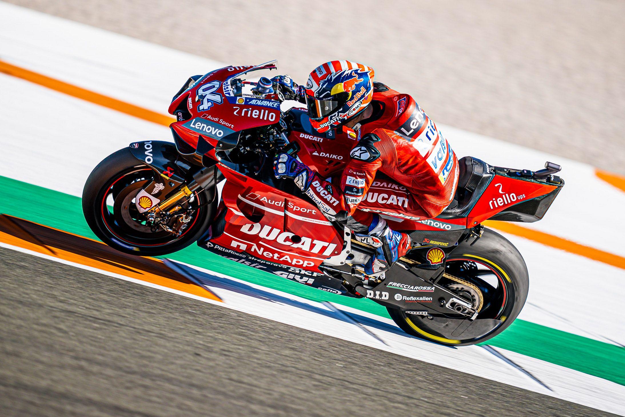 2020 Motogp Season Officially Gets Underway At Valencia Ducati Testing At The Ricardo Tormo Circuit Ducati Motogp Motogp Race