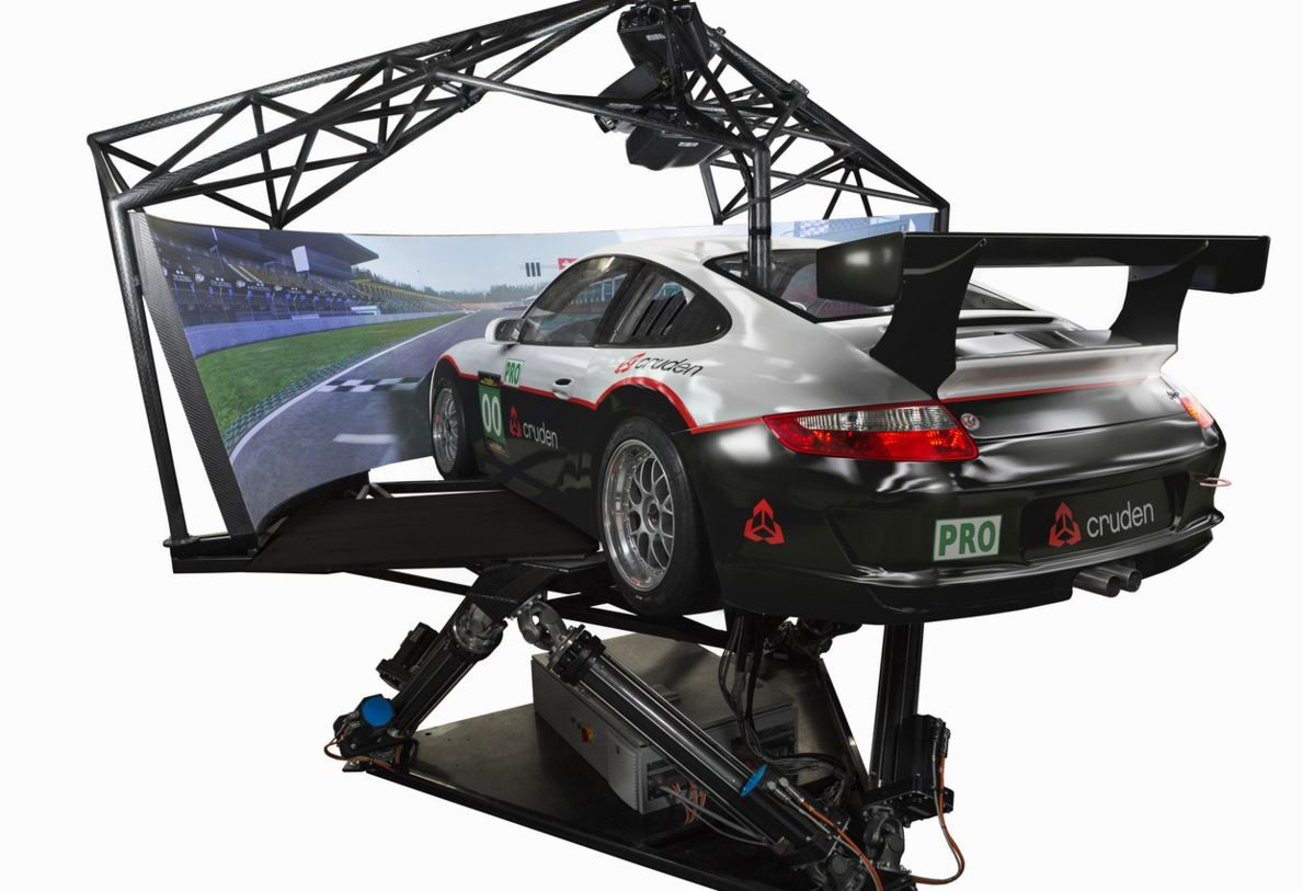 M646p3 driving or racing simulator with onboard
