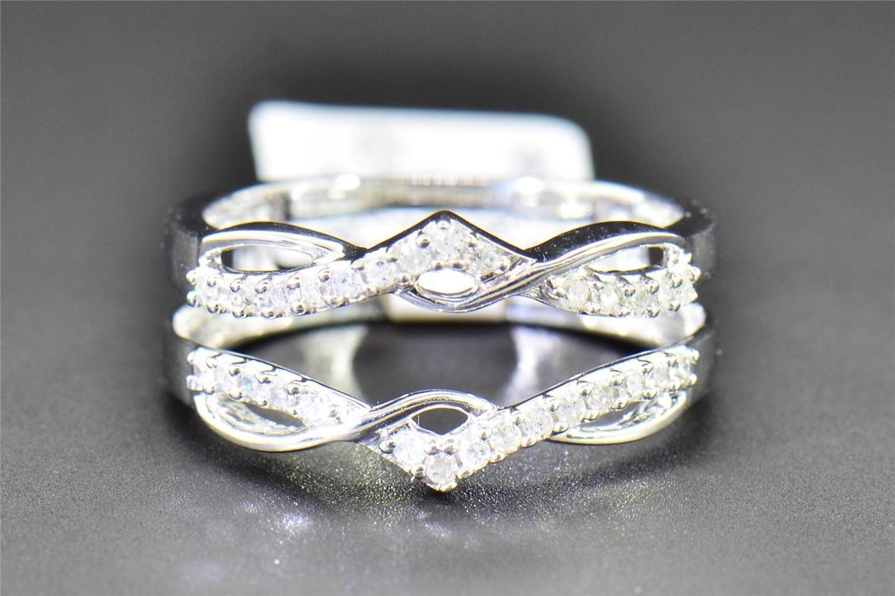 Diamond Enhancer Wrap Solitaire Engagement Ring 1/4 Ct 10K