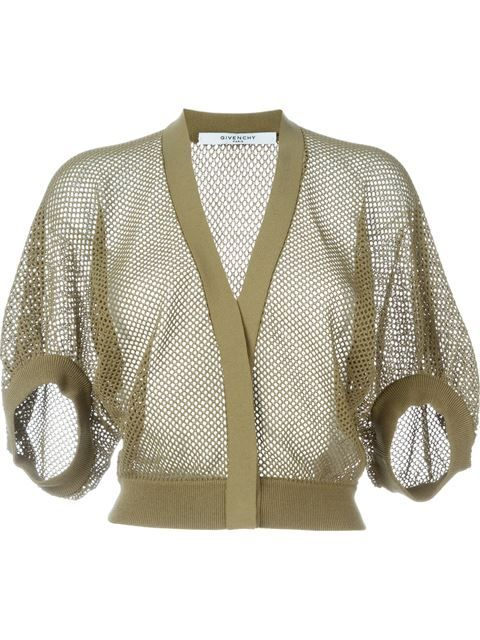 5741ec2ec50e Shop Givenchy cropped fishnet cardigan in Stefania Mode from the ...