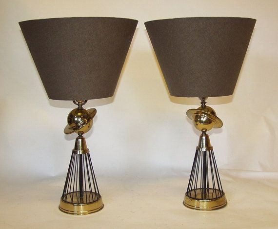 Atomic Age Saturn Lamps by MvellerVintage on Etsy