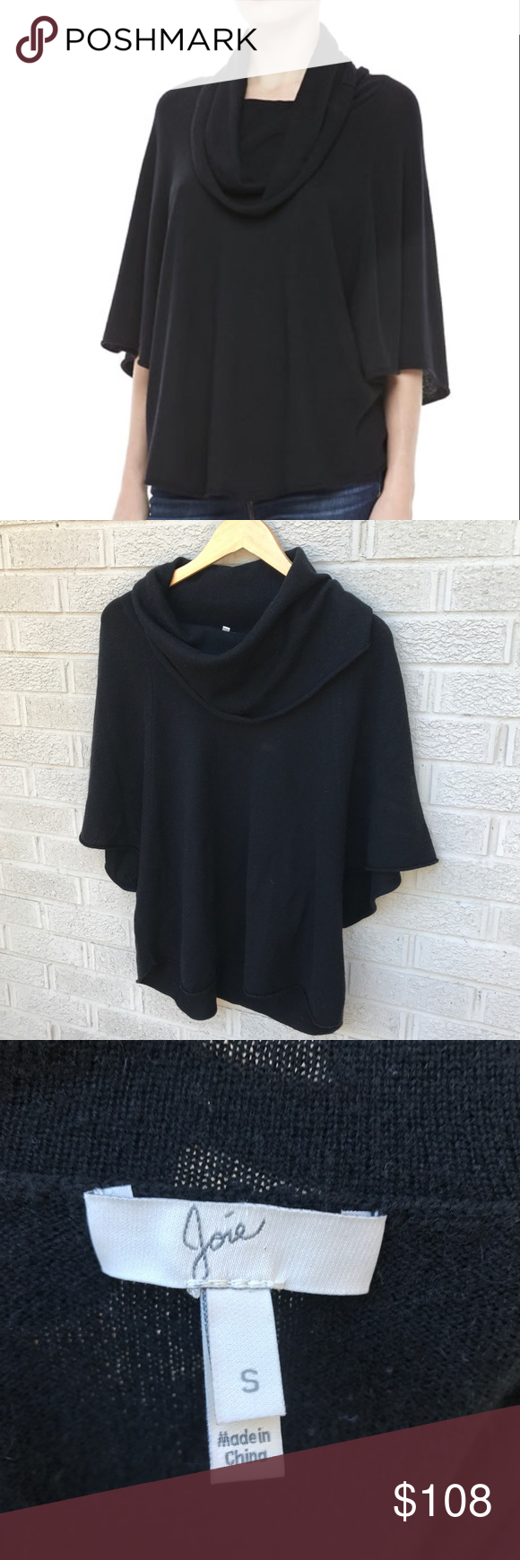 Joie Celia Cowl-Neck Batwing Cashmere Sweater | Cashmere sweaters ...