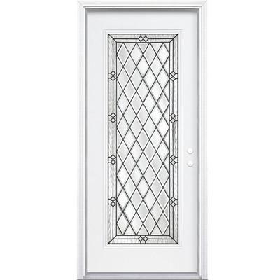 Bon Masonite   36 Inch X80 Inch X6 9/16 Inch Halifax Antique Black Full Lite  Left Hand Entry Door With Brickmould   567649   Home Depot Canada |  Pinterest ...