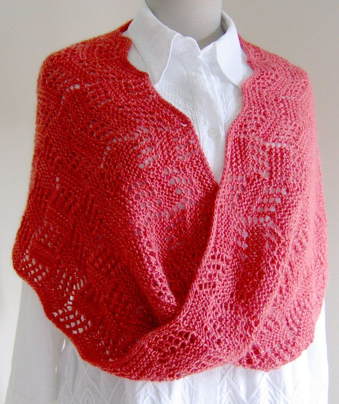 Free Knitting Pattern for Topsy Turvy Moebius -Lace wrap with a ...