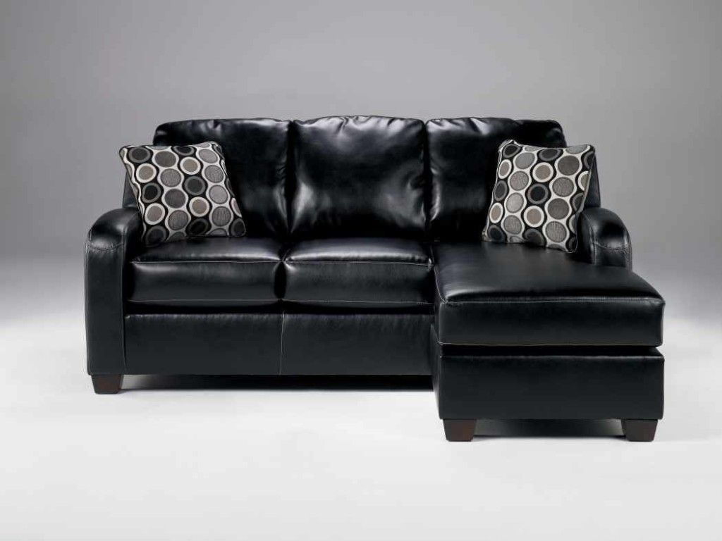 Ashley Furniture Black Leather Sofa