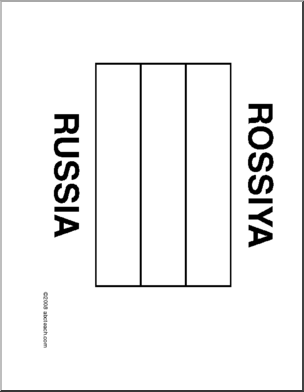 Flags for tons of countries Flag Russia  Line drawing of