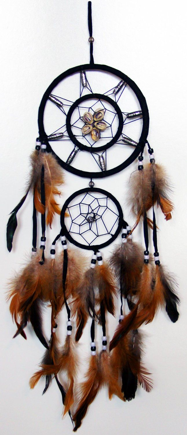 History Of Dream Catchers Dream Catcher Wall Hanging With Beads Shells Feathers Art Weaving