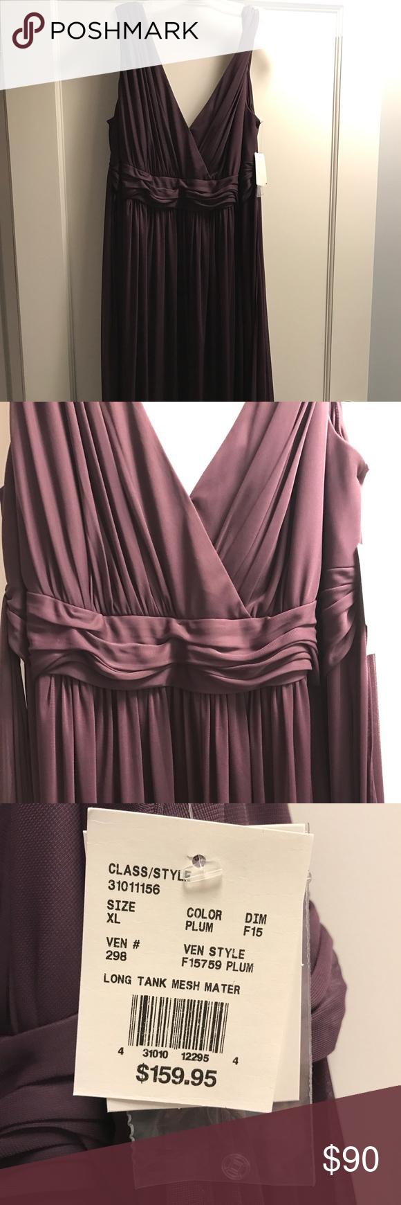 Davids bridal plum long tank mesh maternity dress nwt the o davids bridal plum long tank mesh maternity dress never been worn brand new davids ombrellifo Images