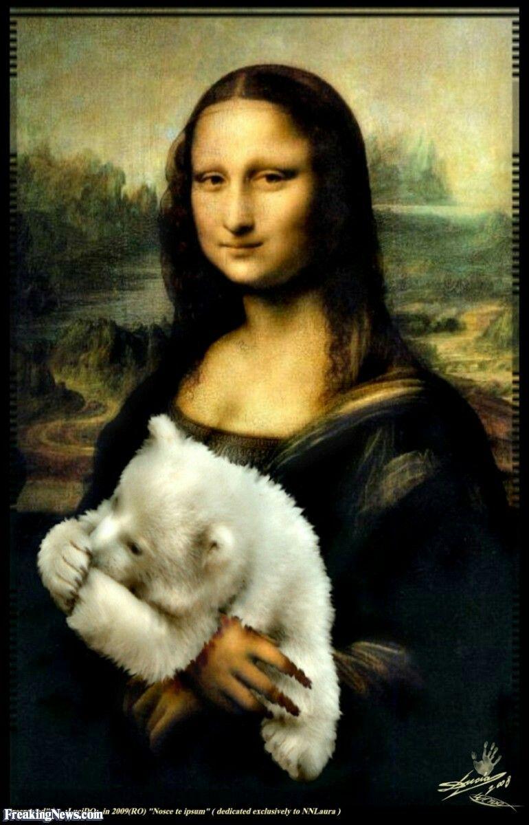 La Joconde Paro Métaphore Visuelle Mona Lisa Manteau En Fourrure Madonna Ours Salopette
