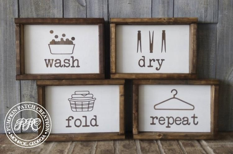 Wash Dry Fold Repeat Laundry Set images