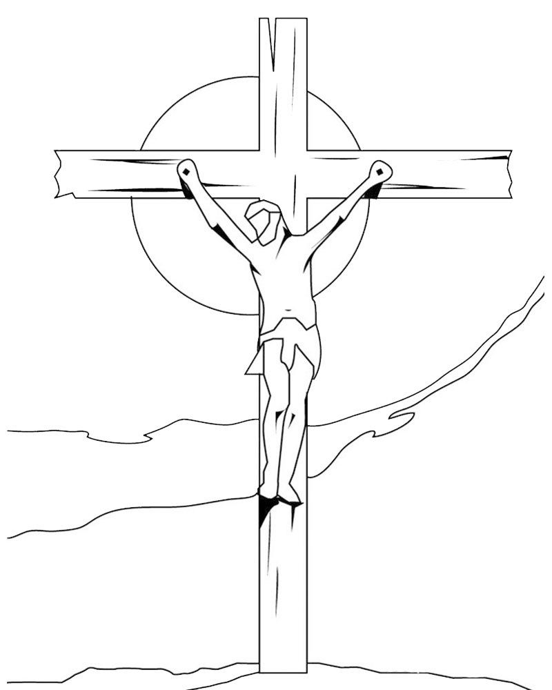 Imagen De Jesus En La Cruz Para Dibujar Facil La Cruz De Jesus Pascua Para Colorear Paginas Para Colorear