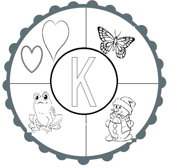 K Sesi Mandala Eğitici Pinterest Mandala Alphabet Ve Batu