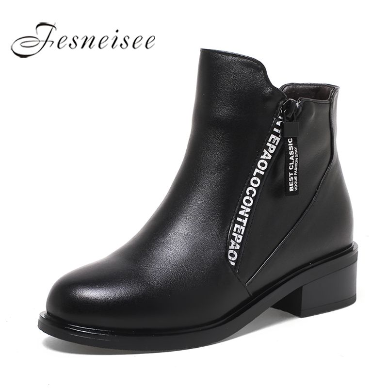 36c5a1194ff 2017 Winter Women Boots Women Genuine Leather Boots Rubber Shoes ...