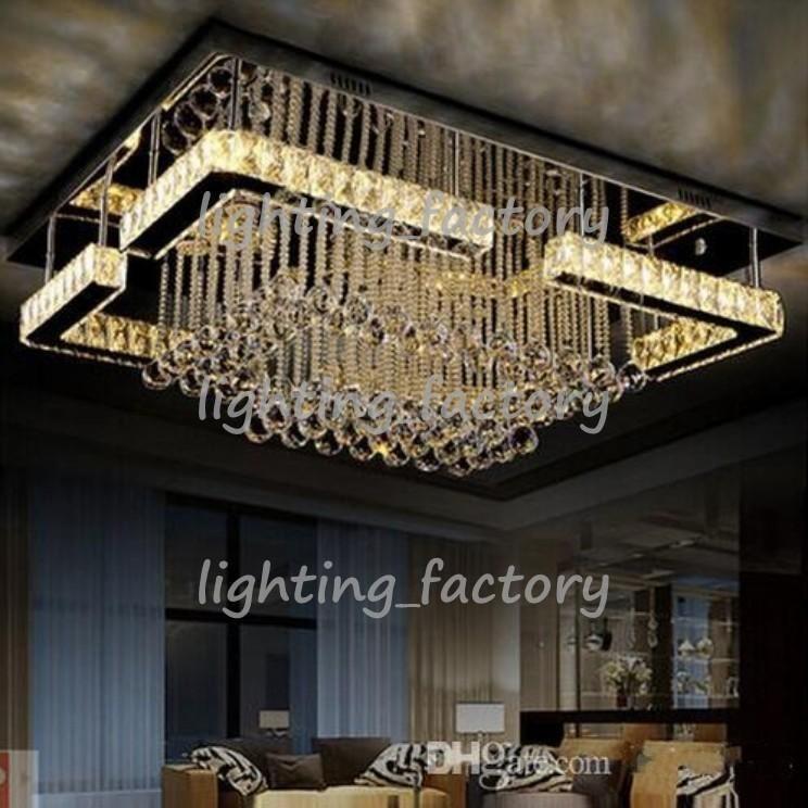 Modern L90cm W70cm 90 265v Art Decora Floral Led Crystal Ceiling
