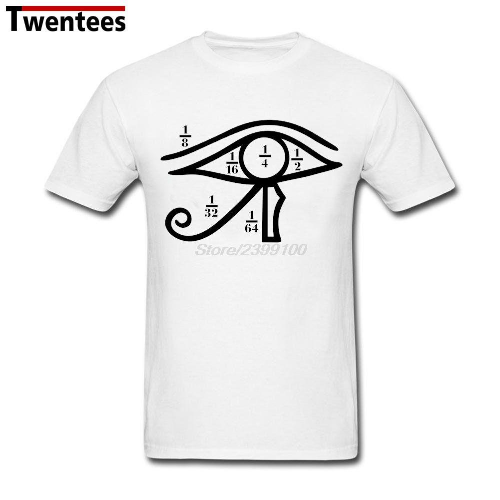 Eye of Horus Heqat Fractional Numbers Egypt Shirt Men Funny Custom