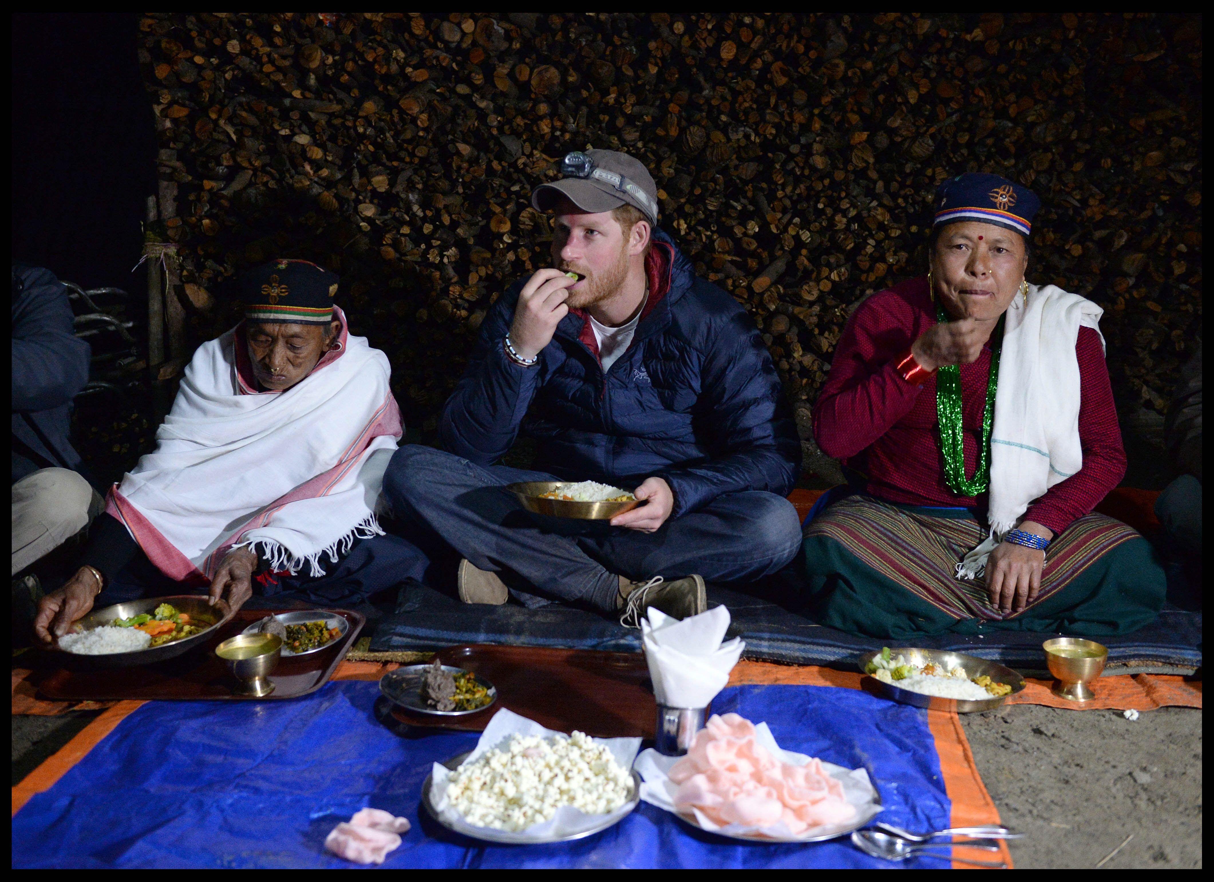 Harry crowned village leader in Nepal
