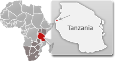 Map Of Gombe Africa Map of #Tanzania with a highlight of #Gombe National Park