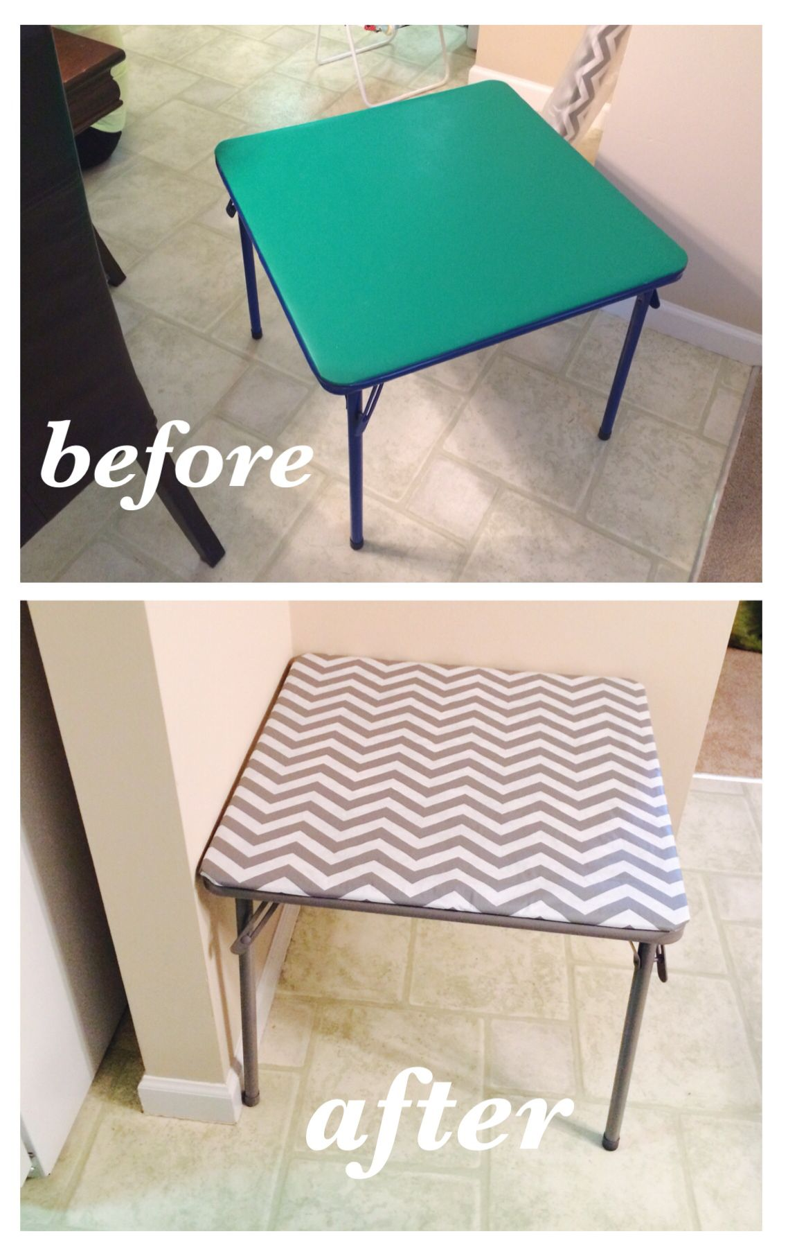 Repaint A Kids Folding Table And Recover With Decorative Vinyl