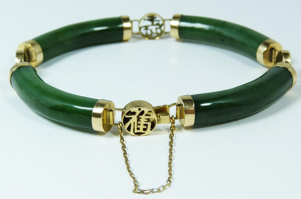 Jade bangles from china 111 14k y g chinese carved gem for Pictures of jade jewelry