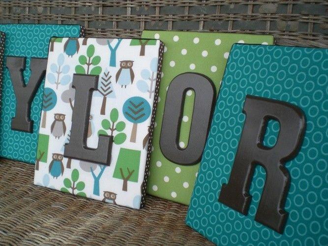 Die besten 25 h ngende buchstaben ideen auf pinterest for Holzbuchstaben babyzimmer