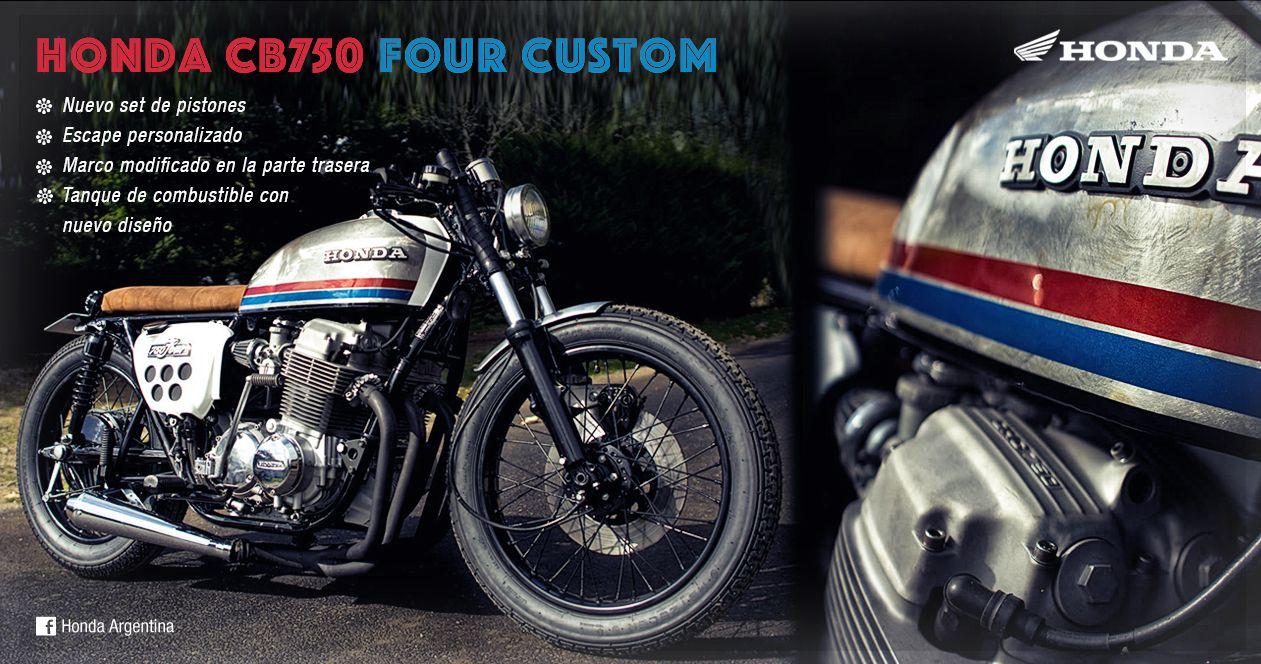 Honda CB750 Four Custom ☆ Nuevo set de pistones ☆ Escape ...