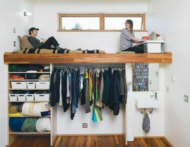 NapadyNavody.sk | 14 skvelých nápadov na úsporu miesta v spálni