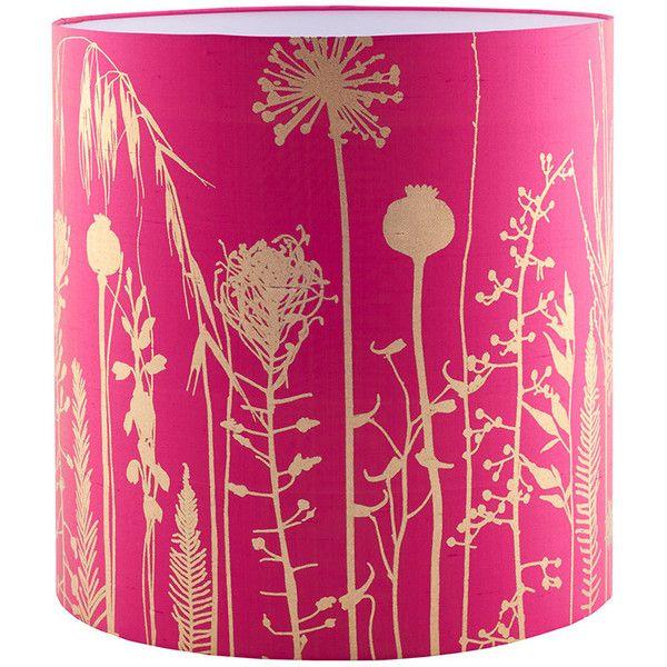 Clarissa hulse seed heads standard lamp shade hot pinkantique clarissa hulse seed heads standard lamp shade hot pinkantique gold 160 aloadofball Images