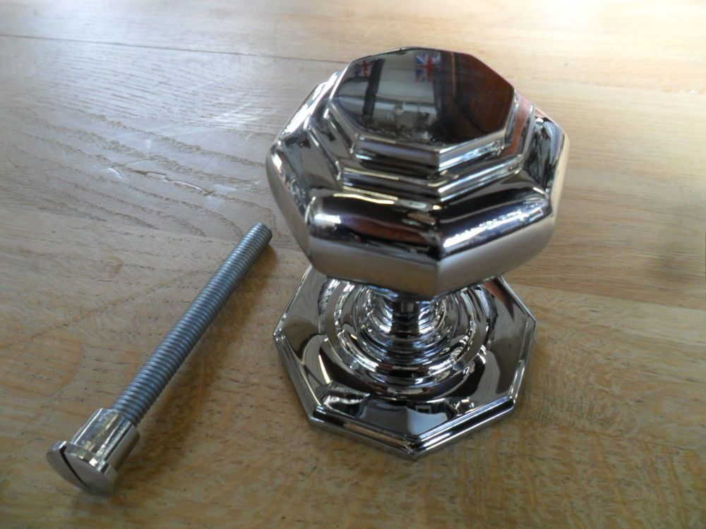 big antique style chrome centre doorknob pull knob for large ...