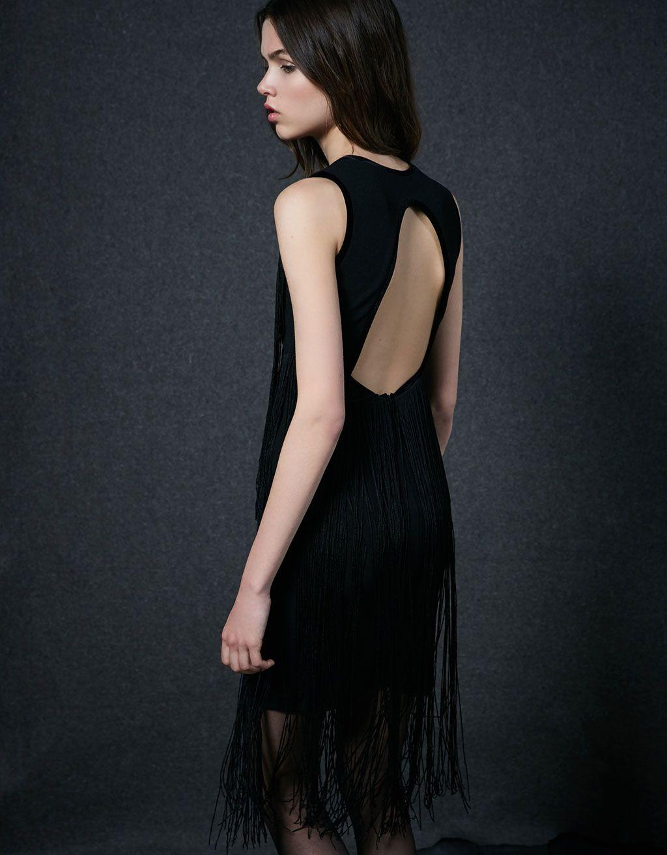 estilo popular online aquí diversos estilos Vestido manga sisa con flecos | Vestidos | Dresses, Jumpsuit ...