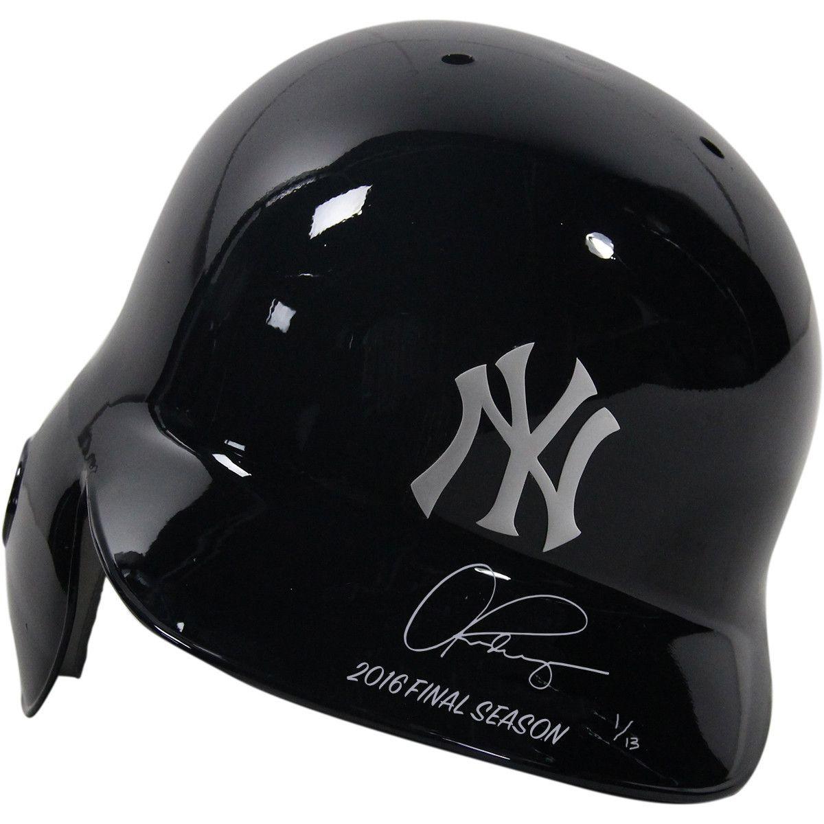 Alex Rodriguez Signed New York Yankees Batting Helmet With 2016 Final Season Batting Helmet Helmet New York Yankees