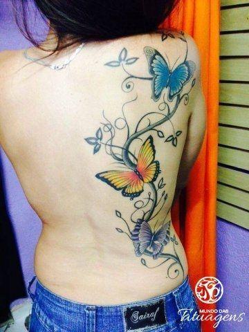 Borboleta nas costas - Foto #6191 - Mundo das Tatuagens