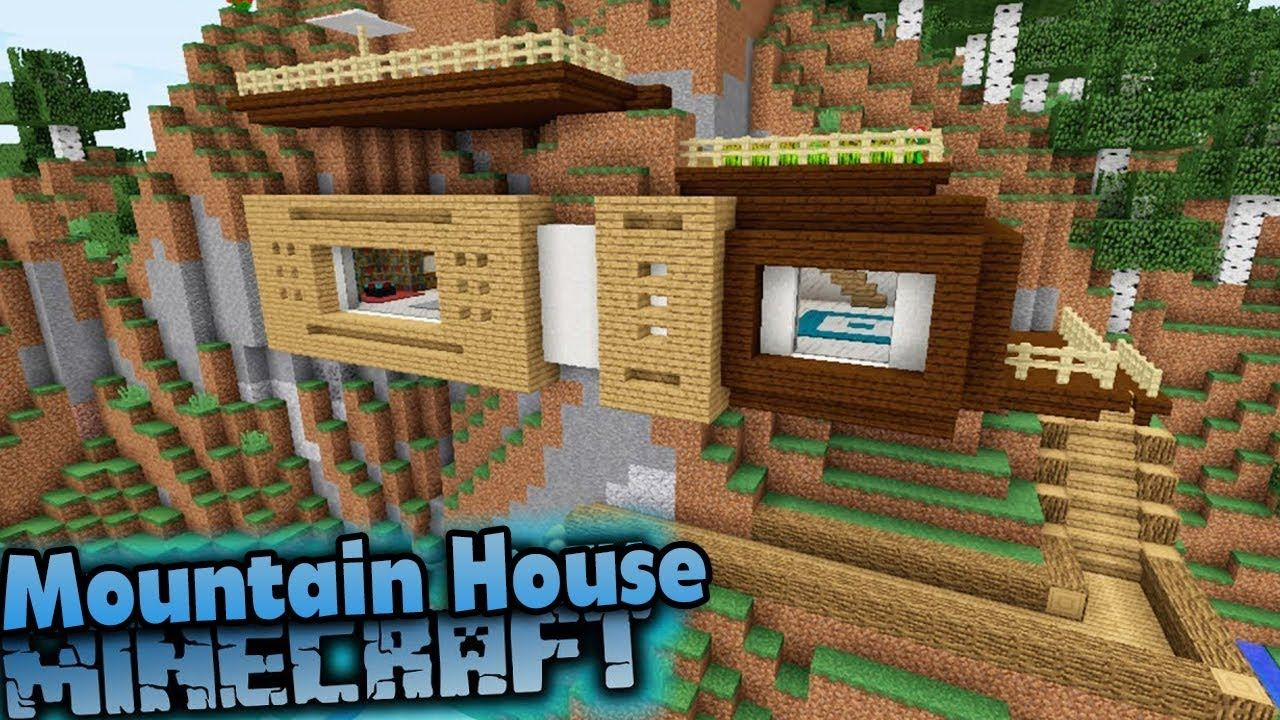 Minecraft: How to Build a Modern Mountain House Tutorial ...