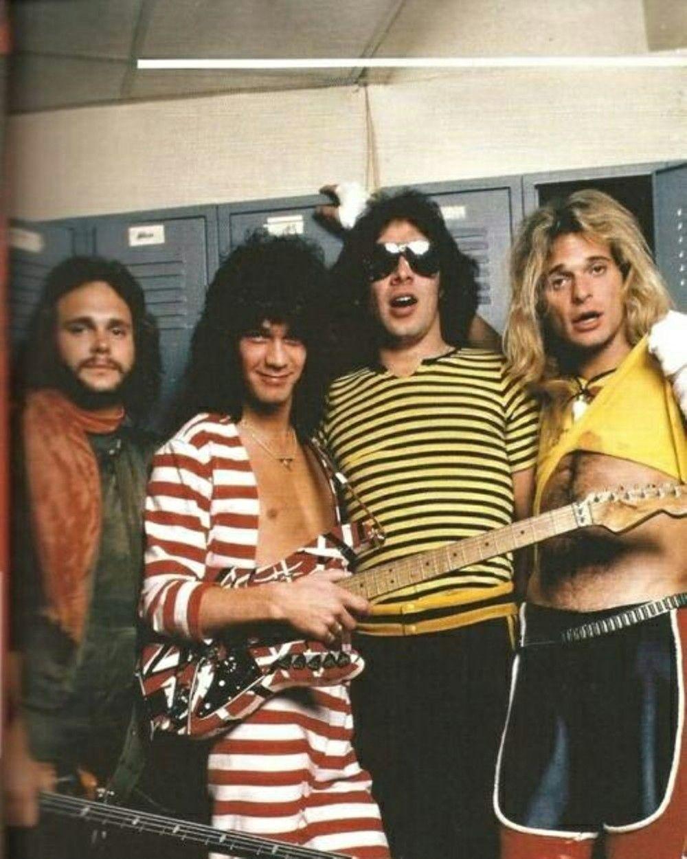 Backstage Van Halen Eddie Van Halen Alex Van Halen