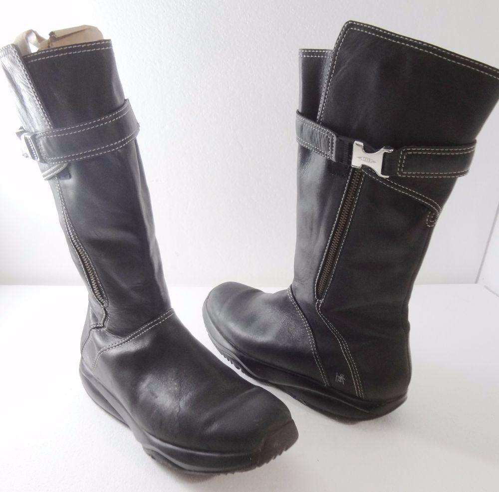 686b92e19f3a MBT Goti Black Leather Walking Toning Boots Women s 9.5 US 40 1 3 EU 6.5 UK   MBT  FashionMidCalf