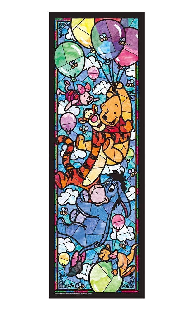 18.2x25 266 Piece 266 piece Disney characters Pure White All-Star Stained Glass Puzzles & Geduldspiele