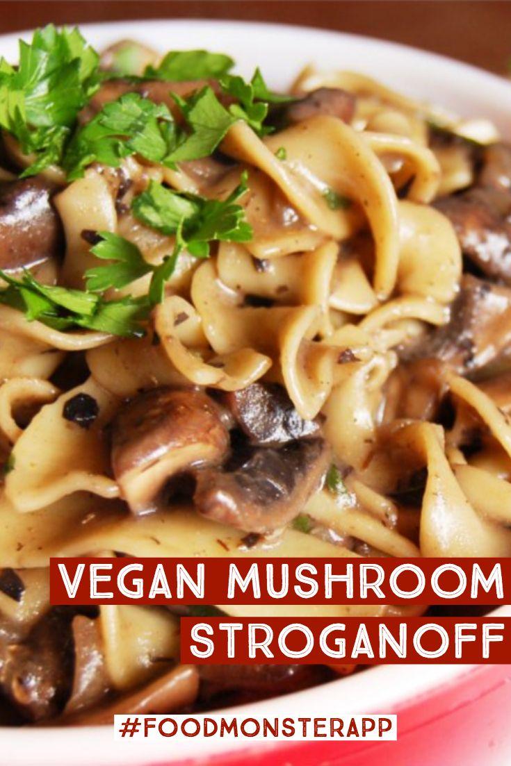 Mushroom Stroganoff Vegan In 2019 Vegan Vegan Recipes