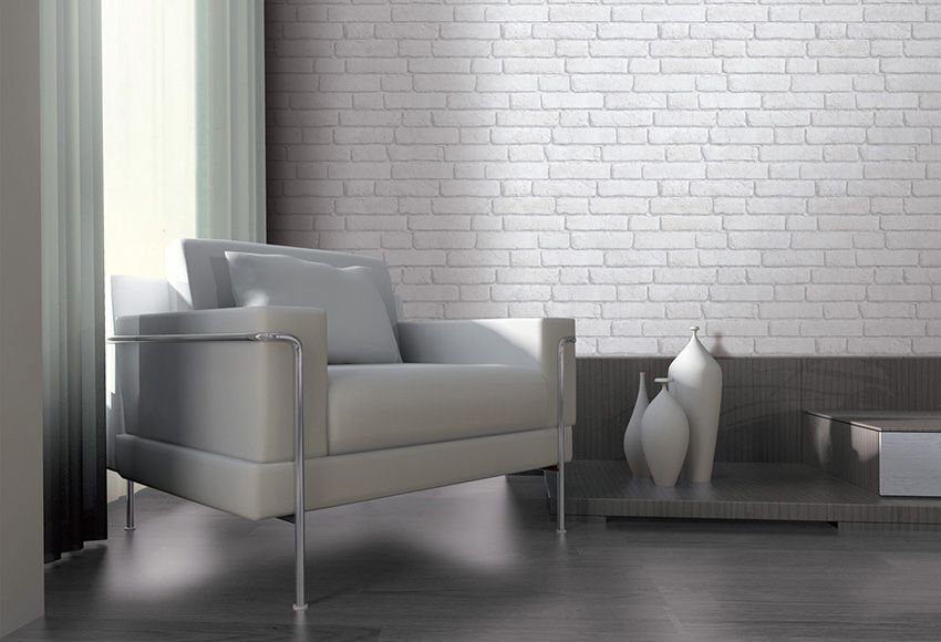 papel pintado imitaci n ladrillo ref 15640170 leroy merlin sal n pinterest imitaciones. Black Bedroom Furniture Sets. Home Design Ideas