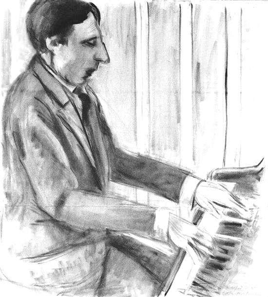 Matisse, Alfred Cortot playng piano