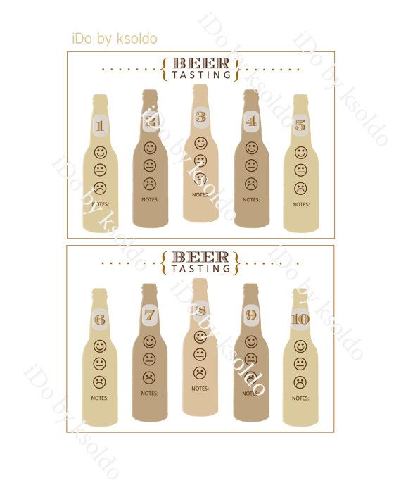 Blind Beer Tasting Kit For Up To 10 Beers Rating Cards Labels Guide 5 Printable Digital Files Blind Beer Tasting Beer Tasting Tasting Party