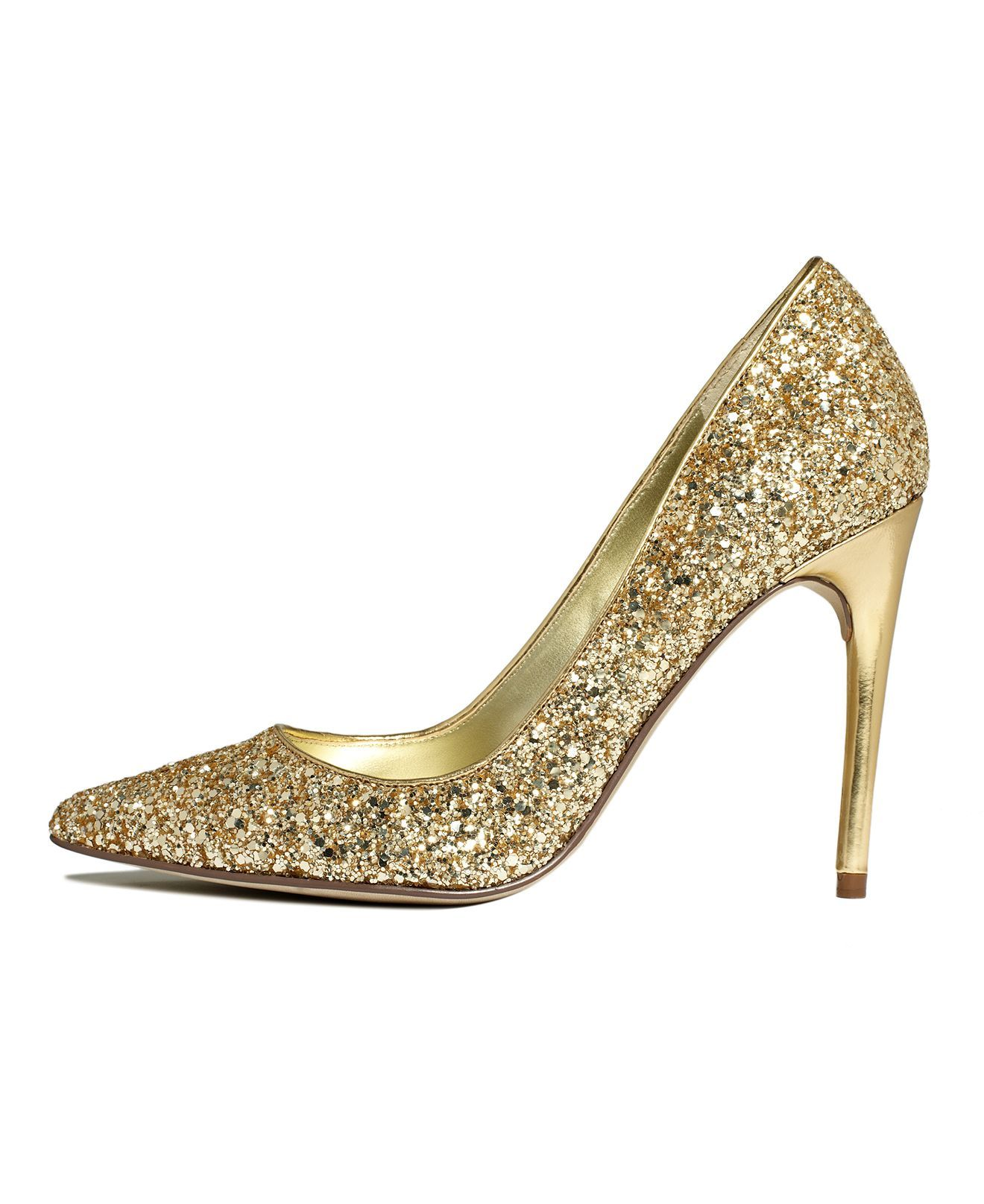new cheap cheapest lower price with Ivanka Trump Shoes, Kaydena Glitter Pumps - - Macy's   Gold ...