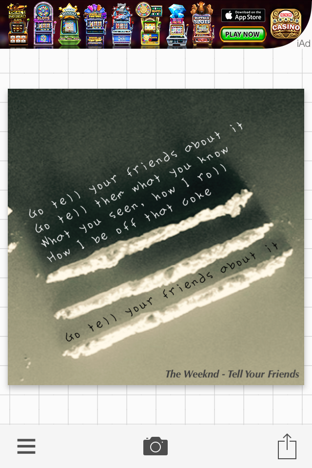 Lyric enemy the weeknd lyrics : The Weeknd Tell Your Friends About It BBTM | Lyric Quotes ...