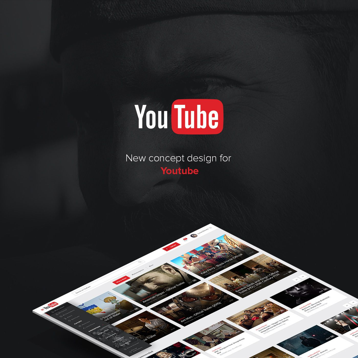Redesign(This is no official project)Innovate without losing the identity . That was my goal, to make the giant YouTube to modernize without losing any functionality and not cause any impact on users.