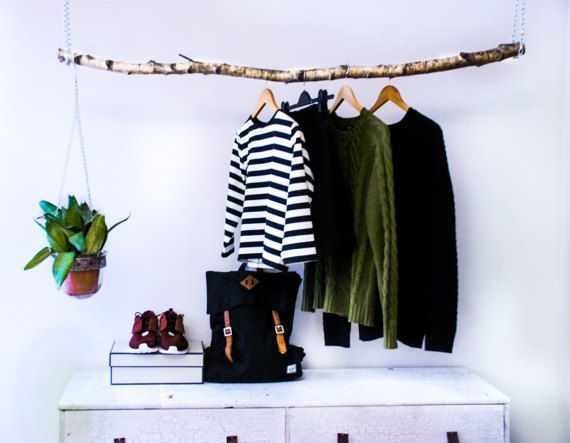 hanging branch clothing rack clothing