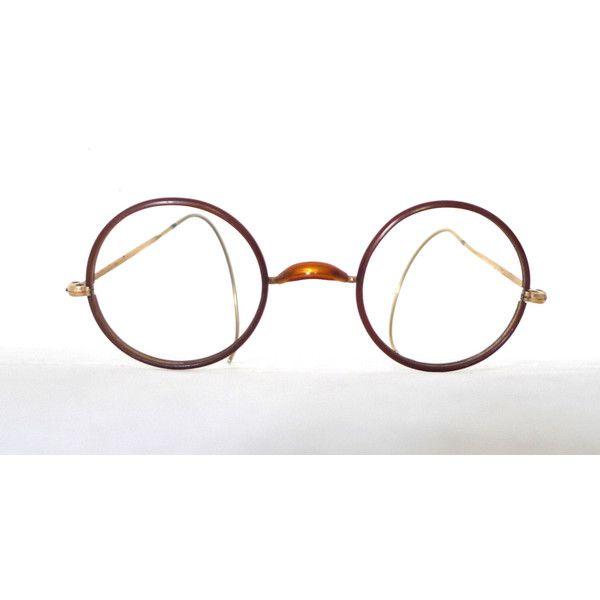 28b0a335fdf2 Rare Antique NOS Round Eyeglass Frames Marked Windsor. Lennon. ( 228) ❤  liked