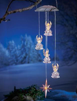 Solar powered hanging angel outdoor decoration christmas for Angel outdoor decoration