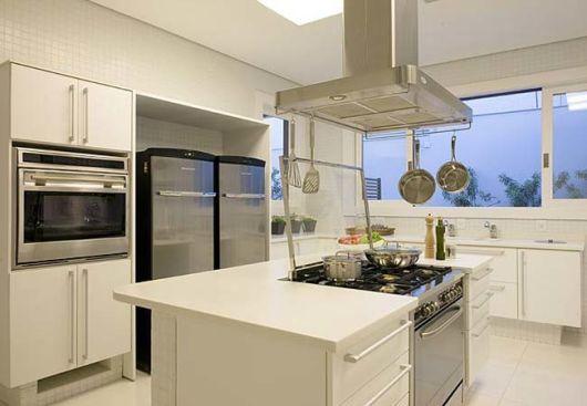 Fogao Embutido Cozinha Com Ilha Cozinhas Modernas Cozinha Com