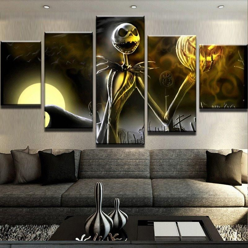 Jack Skellington Painting Modular Canvas Wall Art Pictures 5