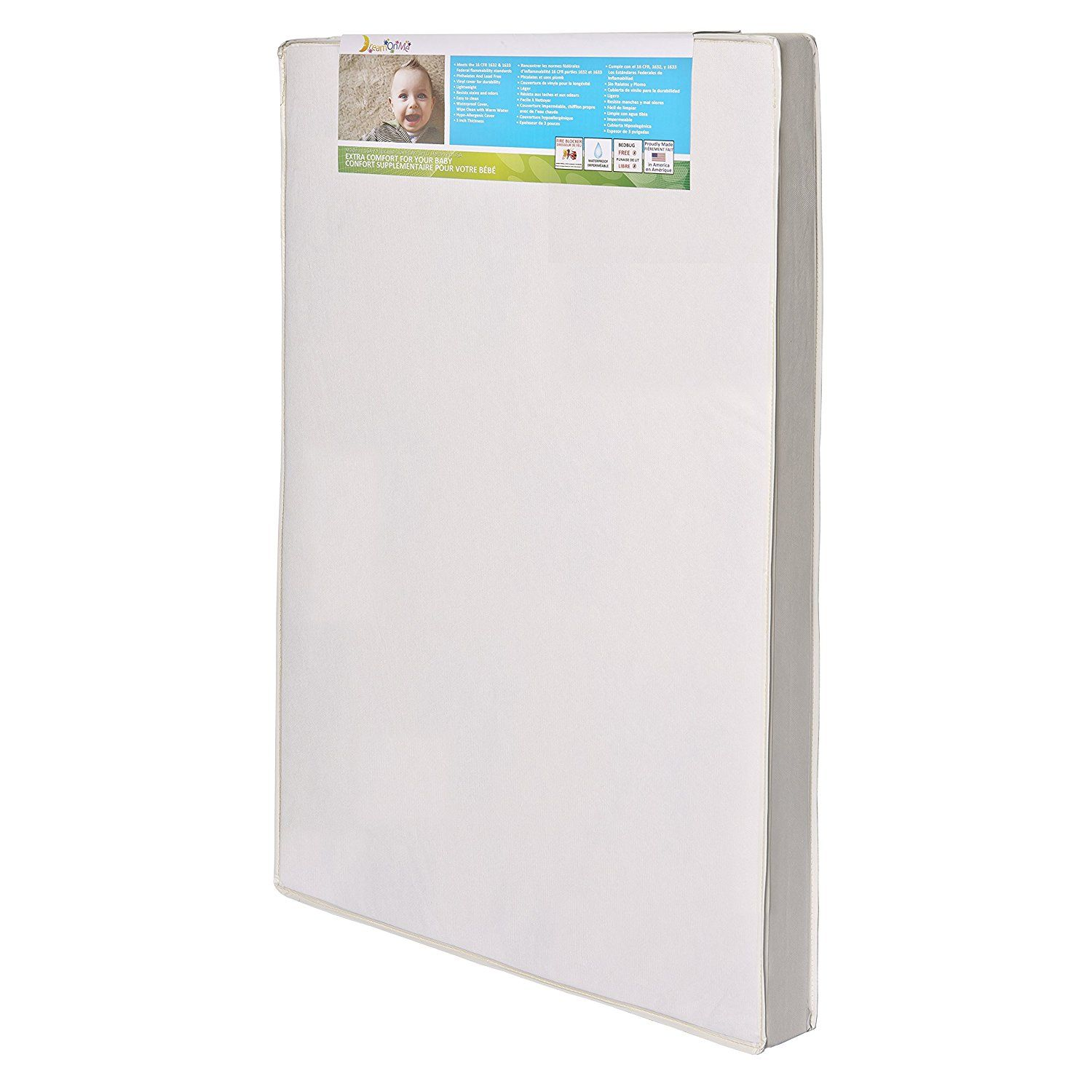 Dream On Me 3 Portable Crib Mattress White Find Out More About The Great Product At The Image Link Portable Baby Cribs Portable Crib Crib Mattress